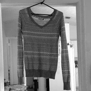 Grey & White / SO Sweater / XS